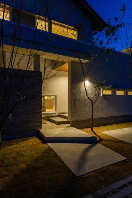 夜の建築実例 | 岩国市で一戸建てならネストハウス