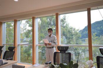 9月全体朝礼 | 岩国市で平屋ならネストハウス