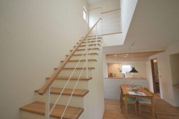 展示場 階段 | 岩国市で新築一戸建てならネストハウス